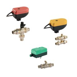 Ball valves with electrical elements are suitable for electronically controlled systems