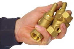 Check valves indicate the flow direction
