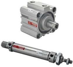 Cylinders in many different sizes: from standard cylinders to short-stroke cylinders